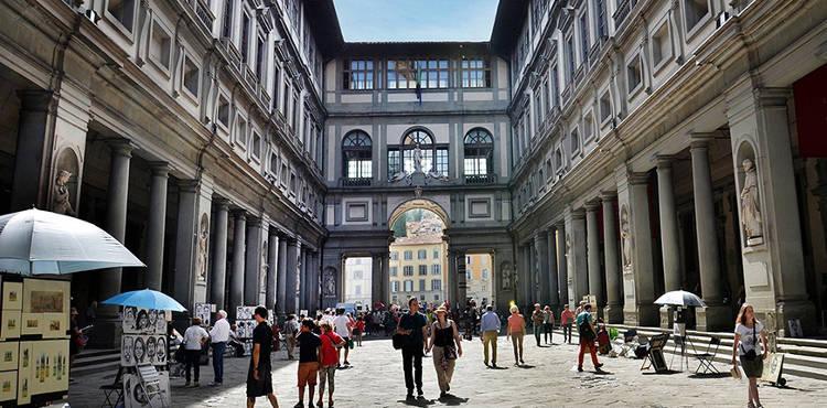 Die Uffizi Galerie in Florenz