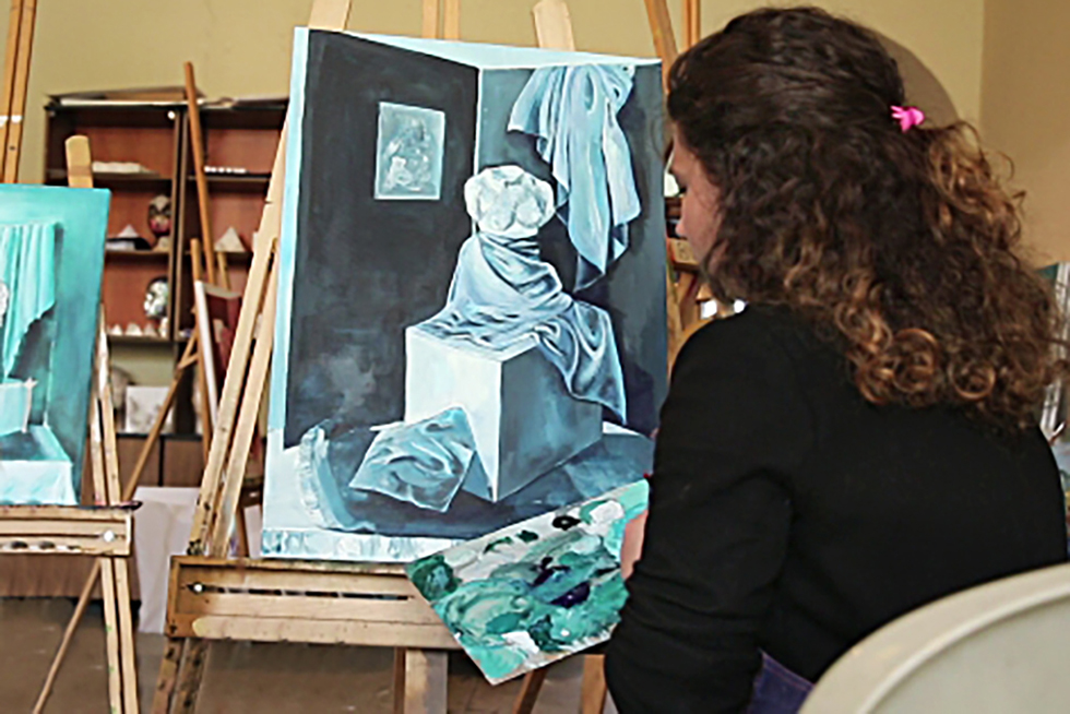 Italian language drawing and painting course