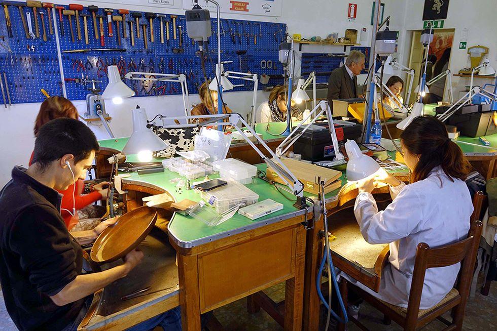 Italienischkurs und juwelierkunst