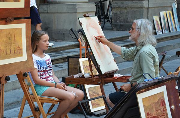 Italienischkurs mit zeichnen und malen